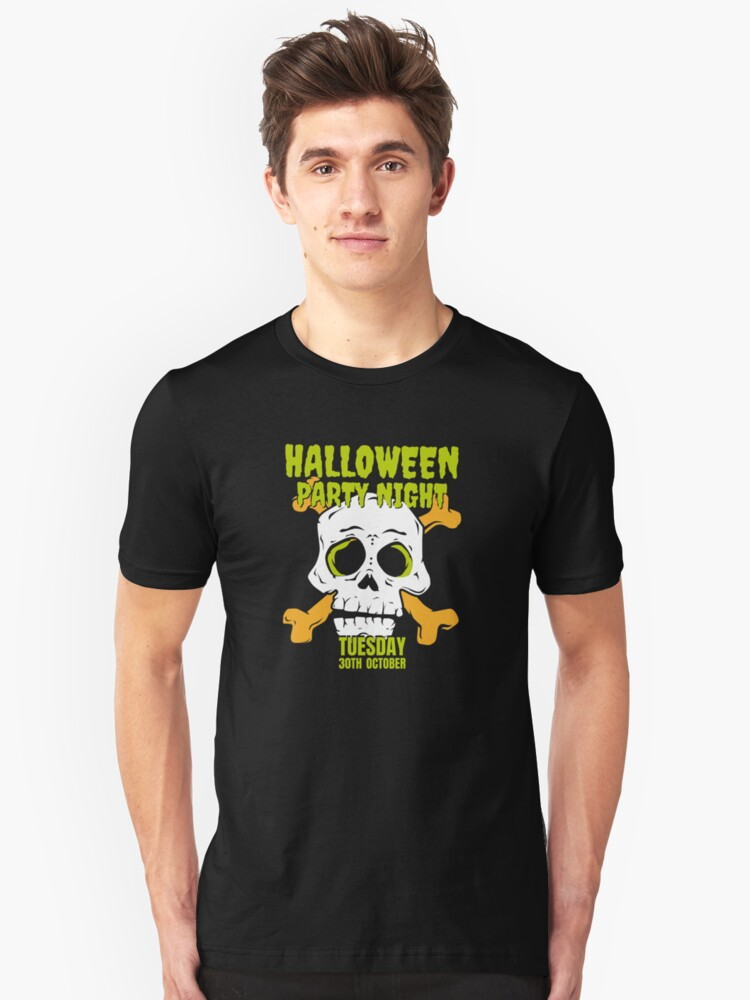 Halloween Party Night Unisex T-Shirt Front