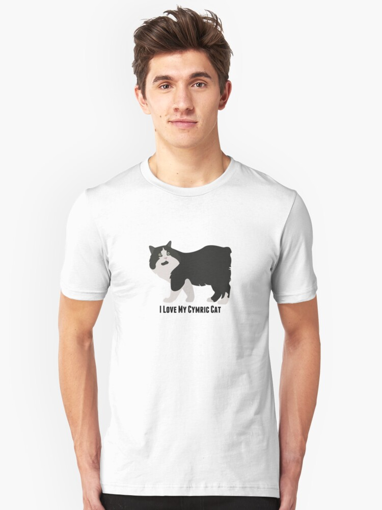 I Love My Cymric Cat Unisex T-Shirt Front