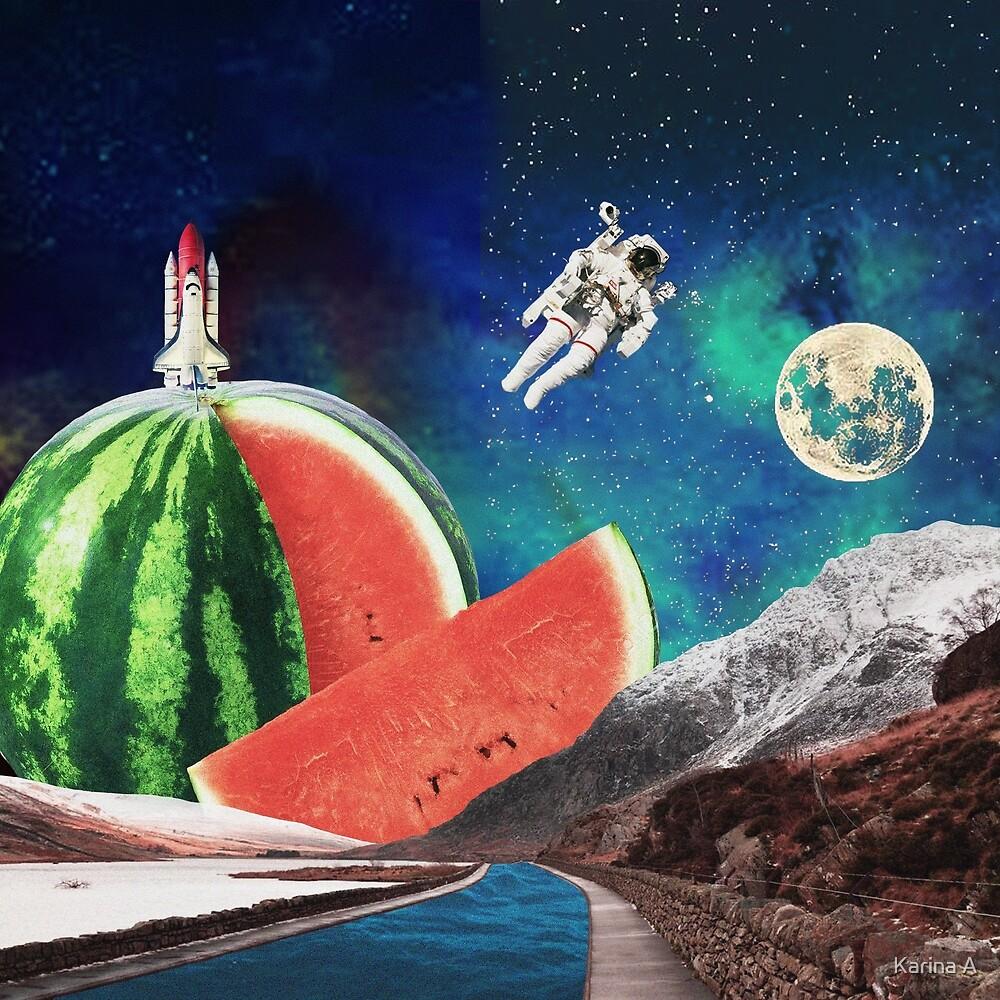 Watermelon Space by Aurelia Elyza Annorah