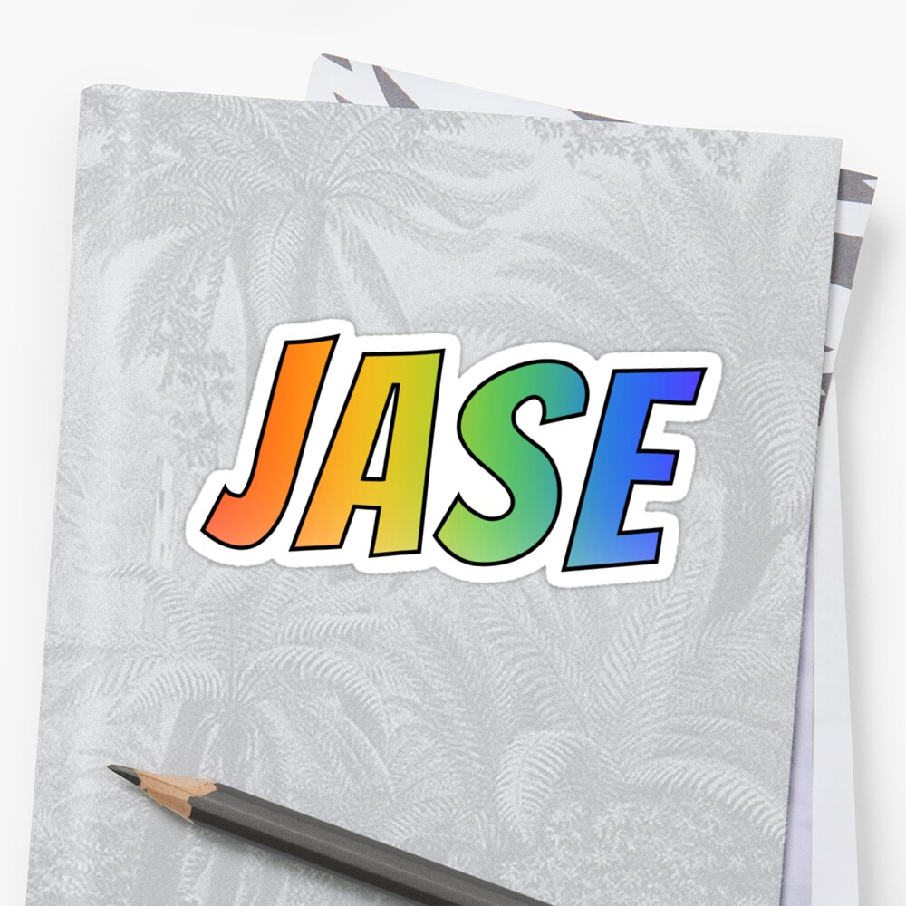 """""""JASE"""" First Name Rainbow Gradient Pattern by aponx"""