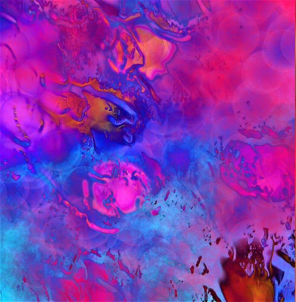 Another Memory - Digital Abstract Sunset Art Purple, Pink, Blue  Swirls by artandsoul38