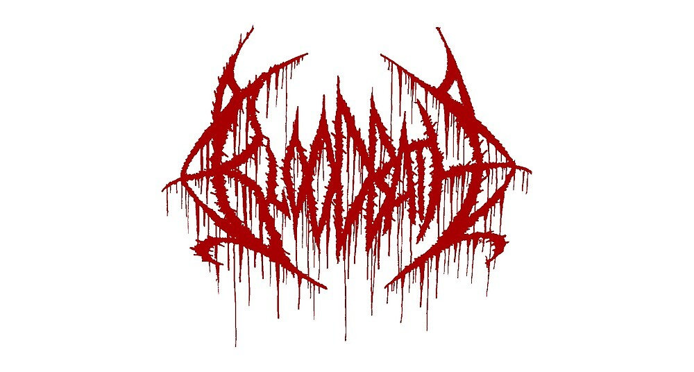 Bloodbath Vinyl Sticker by CommandoSpinner