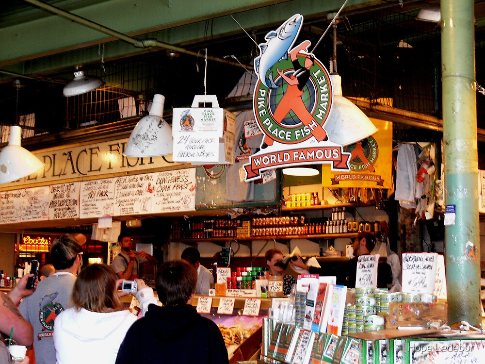 Pike Place Fish Market by Hope Ledebur