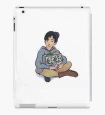 A kid and his recorder  iPad Case/Skin