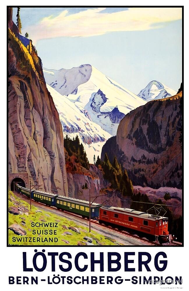 Lötschberg Tunnel - Bern - Simplon Switzerland by vintagetravel