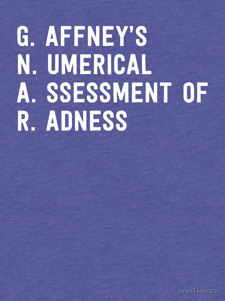 GNAR ::: Gaffney's Numerical Assessment of Radness by avanTishirtco