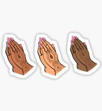 Sisters Praying Sticker
