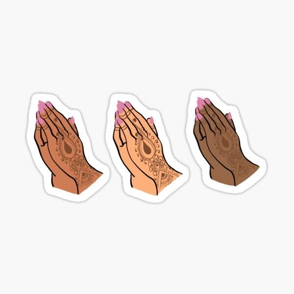 Hermanas orando Pegatina