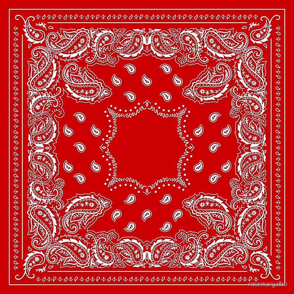 Bandana Bandana Red -   by rosemaryalbo