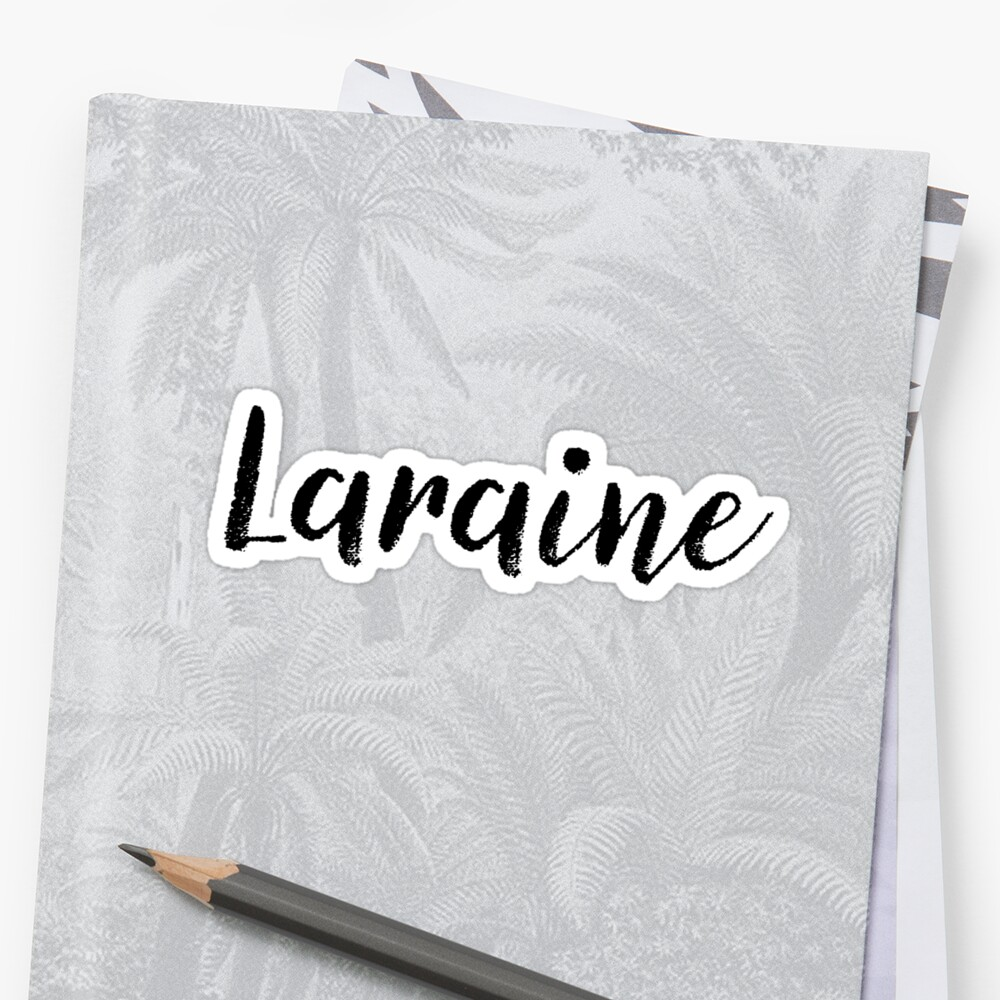 Laraine - Cute Girl Names For Wife Daughter Sticker Front