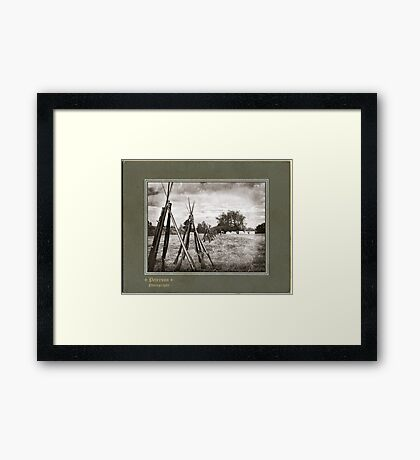 Stacked Muskets Framed Print