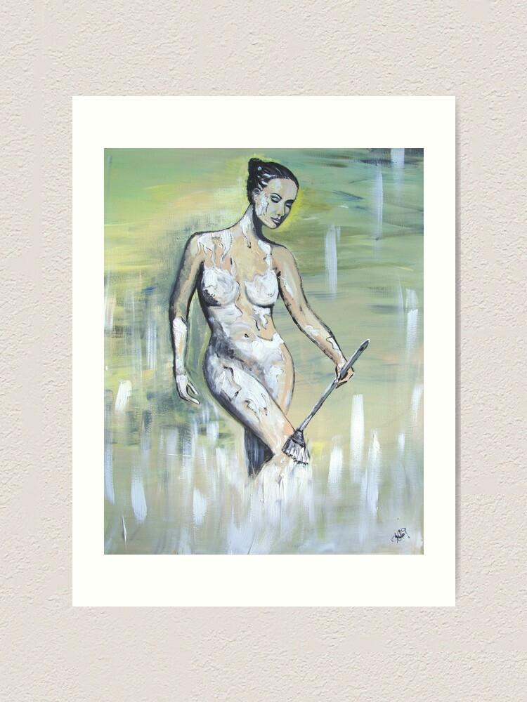 Alternate view of Body - Painted Art Print