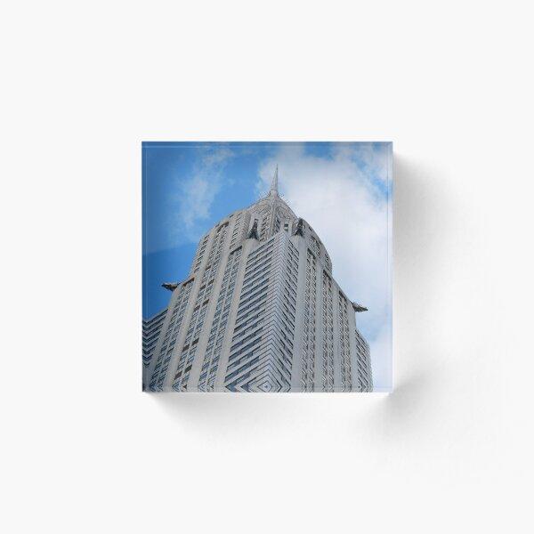 Skyscraper New York City Acrylic Block