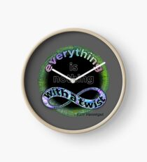 Everything is nothing, with a twist Clock