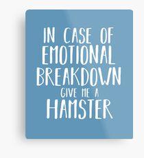 Funny Hamster Lover Shirt Gift for Men Women Kids Metal Print