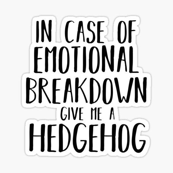 Funny Hedgehog Lover Shirt Gift for Men Women Kids Sticker