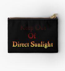 Keep out of Direct Sunlight Zipper Pouch