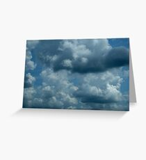 Cloud Shapes Greeting Card