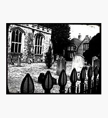 Church Yard Photographic Print
