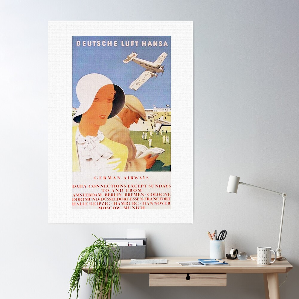 Lufthansa 1926, First Year of Service Poster Poster