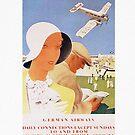 Lufthansa Art Deco 1926 Travel Poster, by edsimoneit