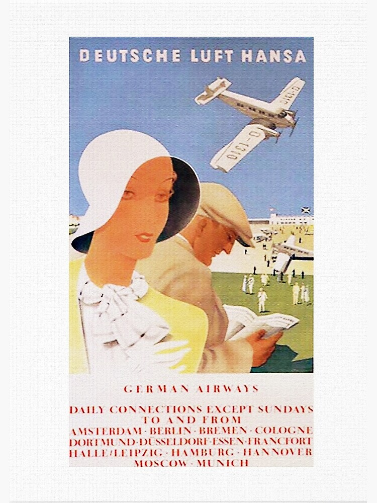 Lufthansa 1926, First Year of Service Poster by edsimoneit