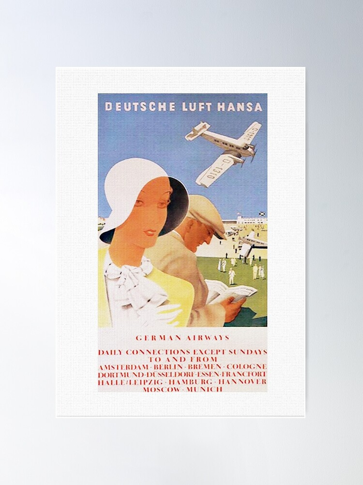Alternate view of Lufthansa 1926, First Year of Service Poster Poster