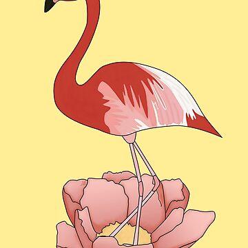 Flamingo and Peony by yanatibear