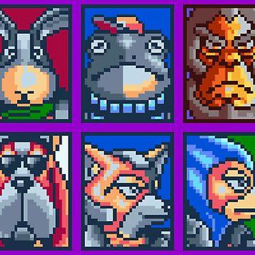 Star Fox / Pattern by MisterPixel