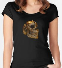 Spiked Skull Bronze Women's Fitted Scoop T-Shirt