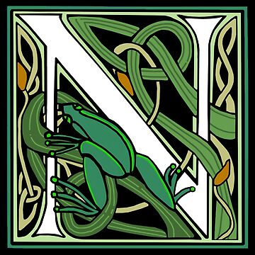 Nouveau Frog Letter N 2018 by Donnahuntriss