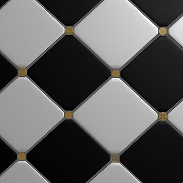 Black and White Tiles  by ABrokeUniKid