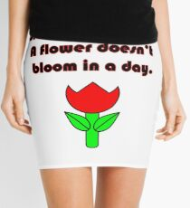 Growth Takes Time (Quote) Mini Skirt