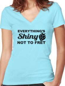 Everything's Shiny, Cap'n! Women's Fitted V-Neck T-Shirt