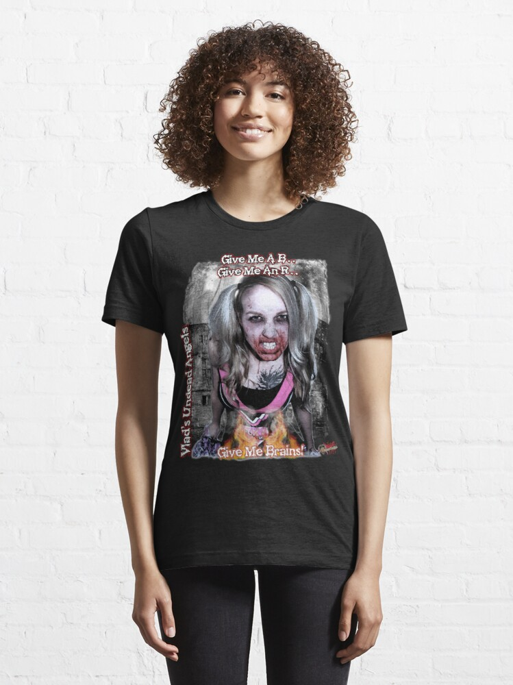 Alternate view of Undead Angels: Zombie Vampire - Modeled Essential T-Shirt