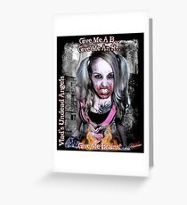 Undead Angels: Zombie Vampire - Modeled Greeting Card