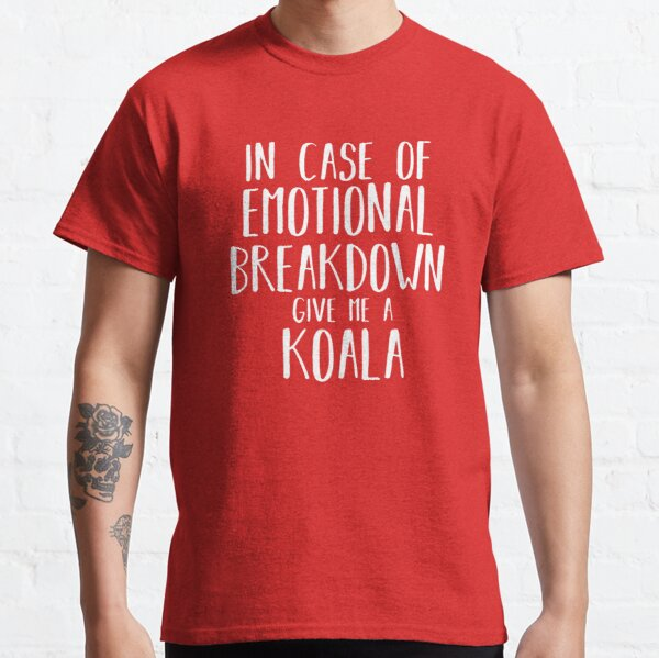 Funny Koala Lover Shirt Gift para Hombres Mujeres Niños Camiseta clásica
