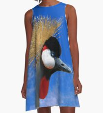 East African Crowned Crane A-Line Dress