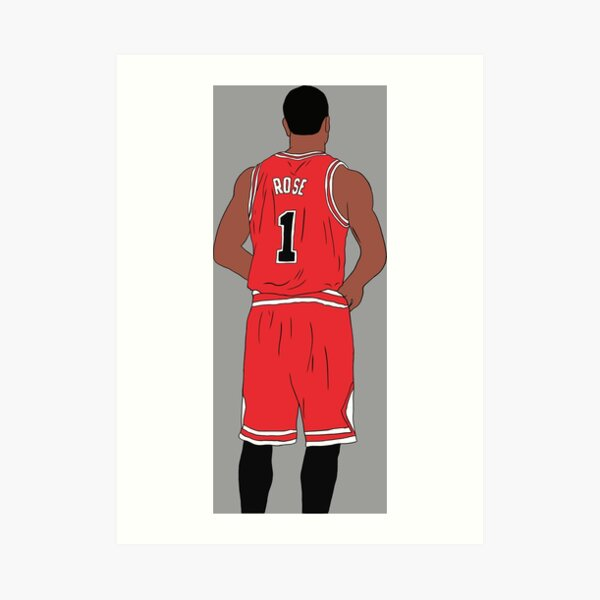 Derrick Rose Back-To Art Print