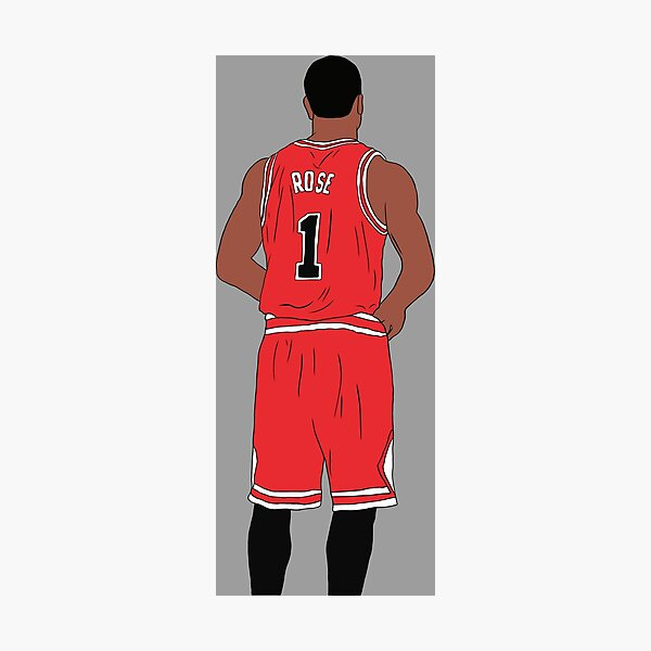 Derrick Rose Back-To Photographic Print