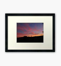 Cork Sunset Framed Print