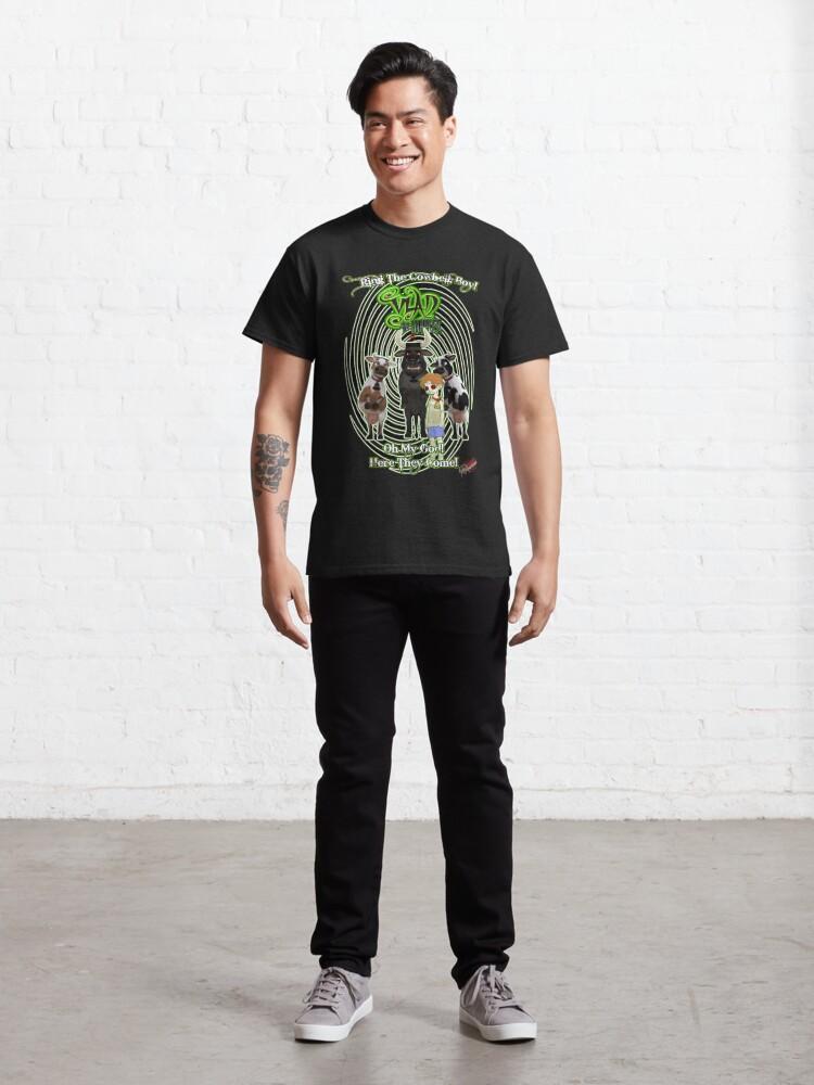 Alternate view of Vlad The Inhaler: Cowbells! Classic T-Shirt