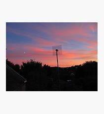 Sunset Moon Rise Photographic Print