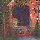 Porch with Green Bench by Susan Savad