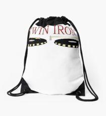 Twin Iron  Drawstring Bag