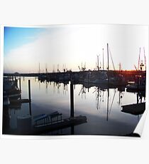 Cresent City Harbor at Sunset Poster