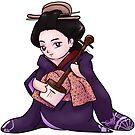 Chibi Natsuki in Entertainers Kimono by a-ka-neArt