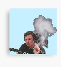 Lienzo Elon Musk fuma
