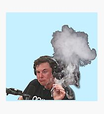Elon Musk raucht Fotodruck