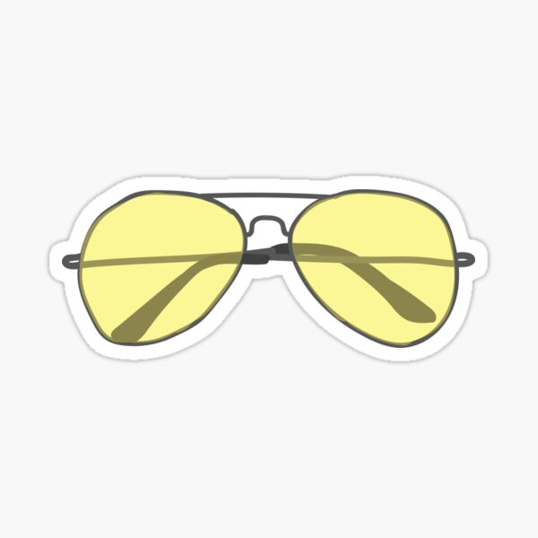 Yellow Sunglasses Sticker Sticker